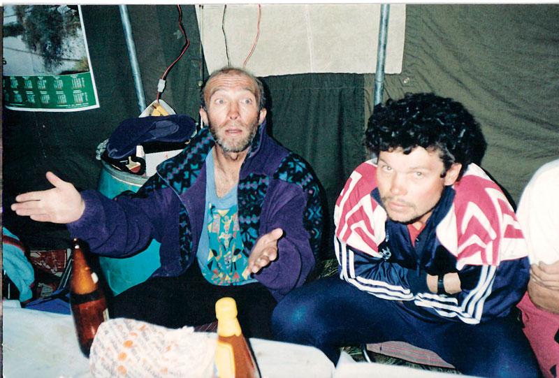 Владимир Горбач и Сергей Ковалёв после восхождения на Аннапурну, 1996 год