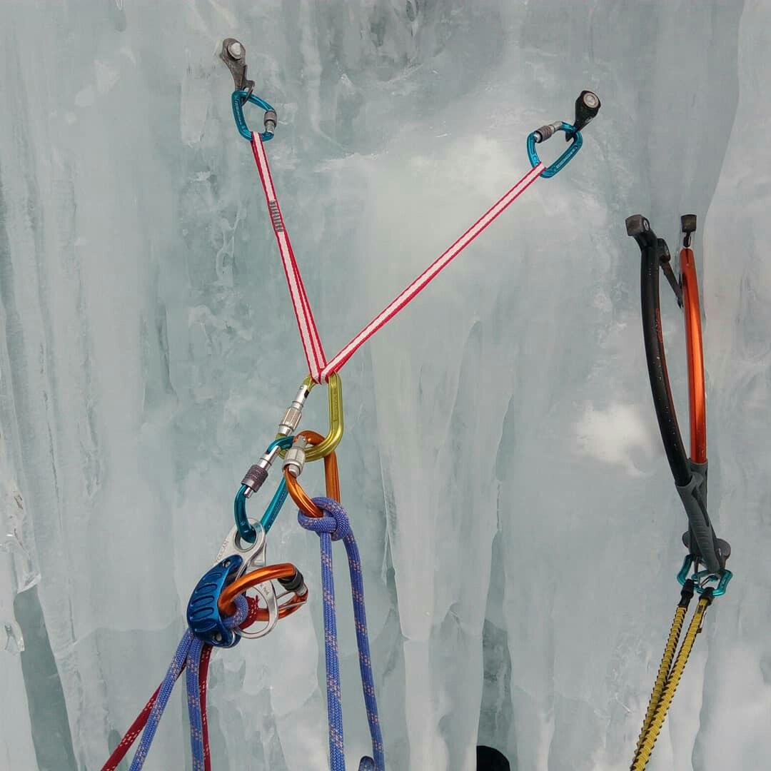 Пример организации станции на ледовом рельефе с компенсационной петлёй