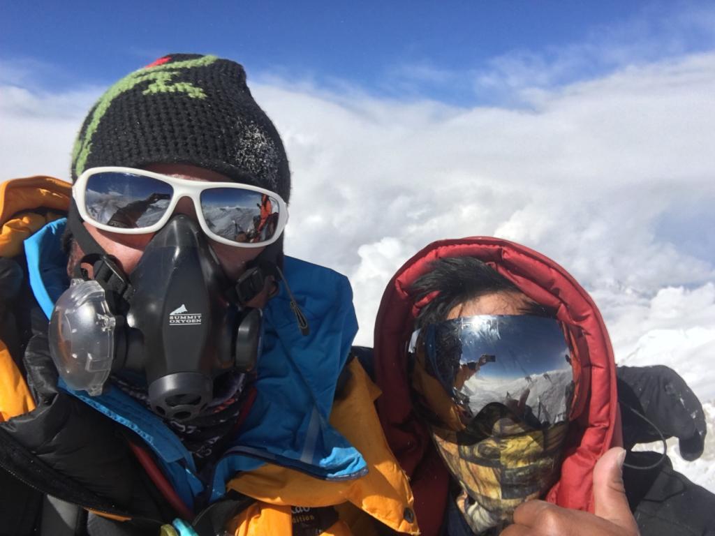 Сергей Баранов и Нирмал Пурджа на вершине Аннапурны © фото из архива Сергея Баранова