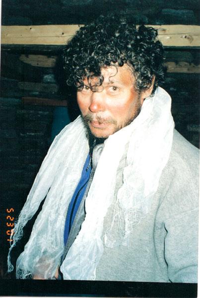 Сергей Ковалёв после восхождения на Манаслу, 2001 год