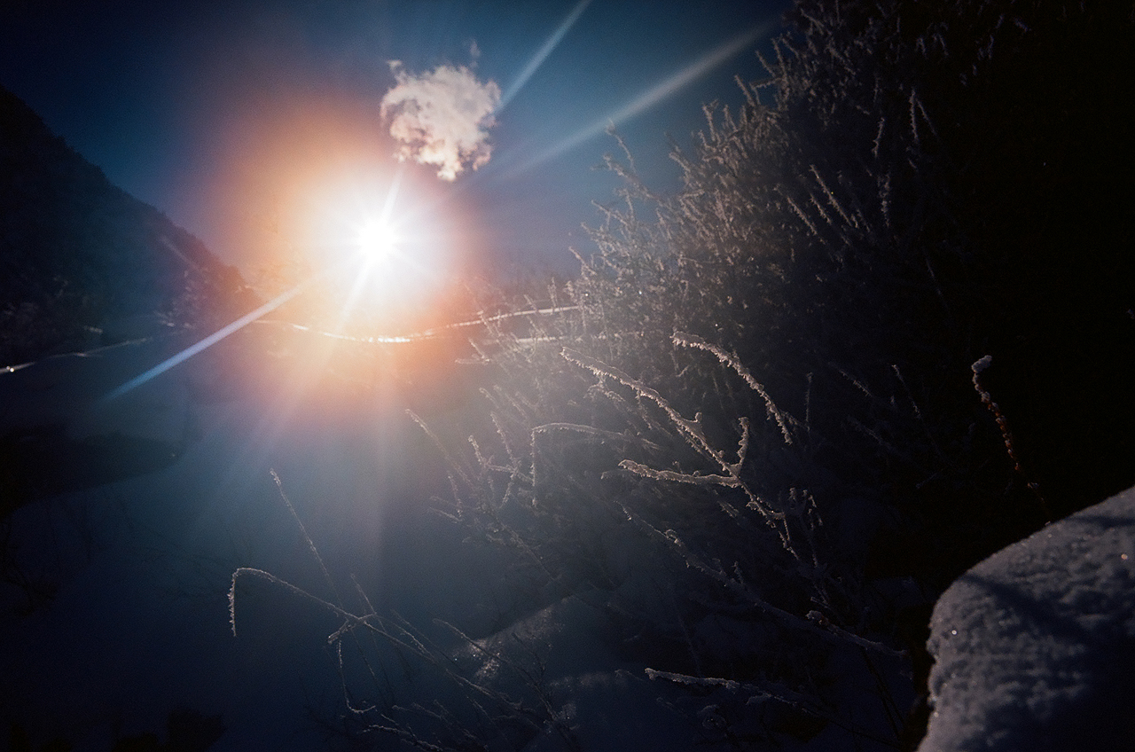 Зимнее первопрохождение на пик Сабах: ущелье