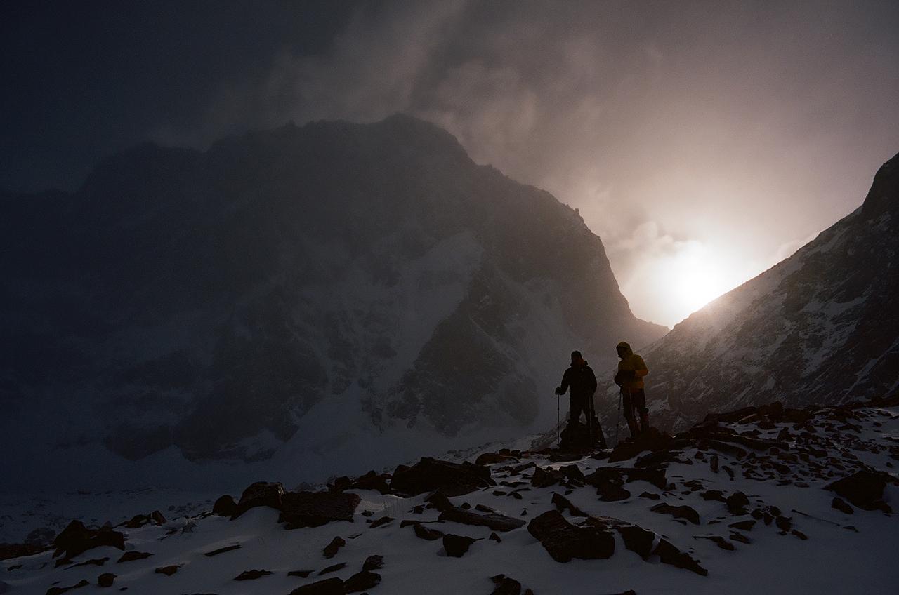Зимнее первопрохождение на пик Сабах: после заброски