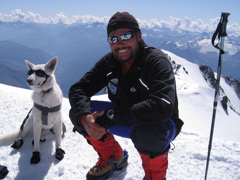 Сергей Ковалёв на вершине Монблана