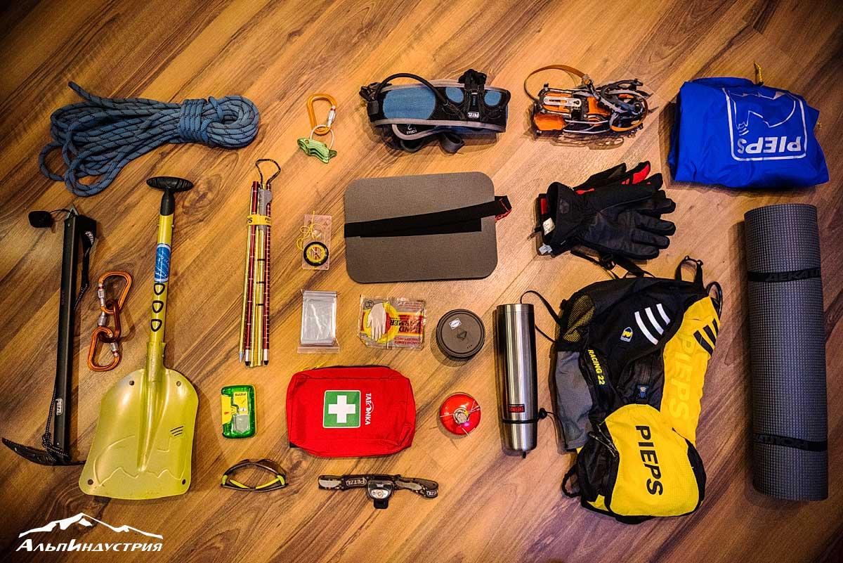 Снаряжение для ски-тура и ски-альпинизма в удалении от курорта