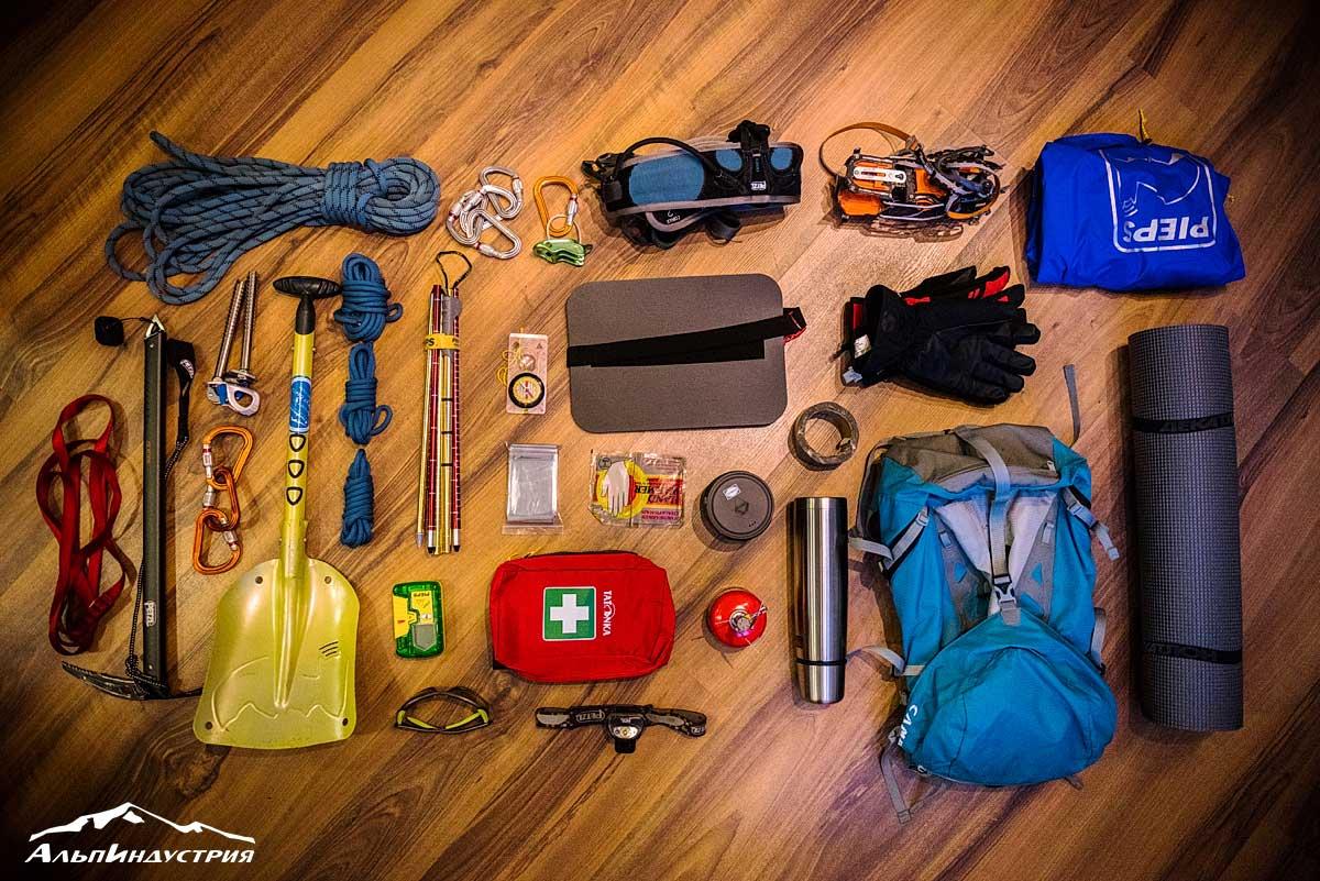 Снаряжение для многодневного выхода на ски-туре и ски-альпинизма (с ночёвками и переходом ледника)