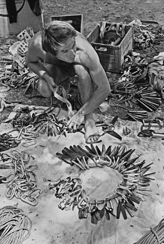 Ивон Шуинар с «железом», сделанным собственными руками