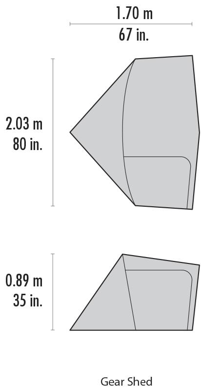Тамбур Hubba™ Gear Shed
