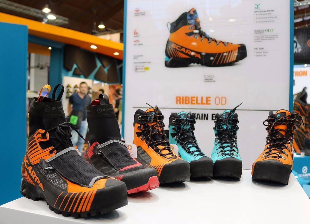 презентация новой линейки альпинистской обуви Scarpa Ribelle на выставке OutDoor 2017 во Фридрихсхафене