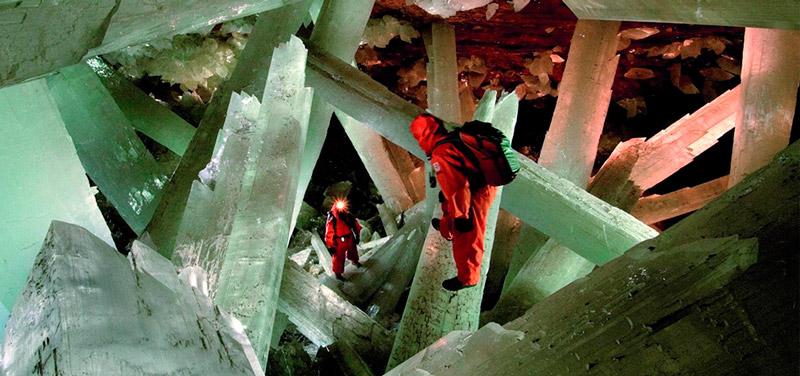Пещера кристаллов в Мексике (Cueva de los cristales)