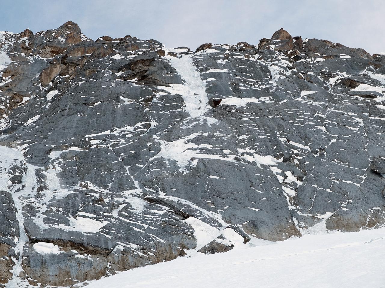 Зимнее первовосхождение на Ашатскую стену пик Сабах (5300 м): начало стенной части