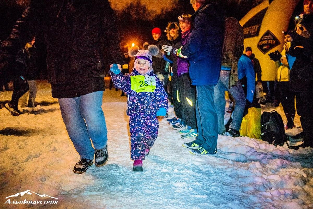 Маленькие участники Alpindustria Night Trail