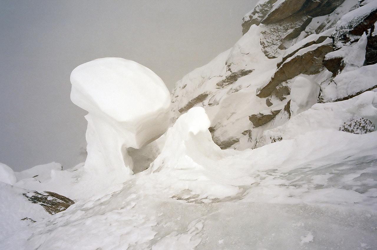 Зимнее первопрохождение на Ашатскую стену пик Сабах (5300 м): гриб