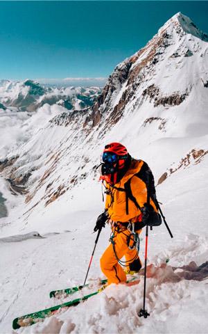 Первый горнолыжный спуск с Лхоцзе