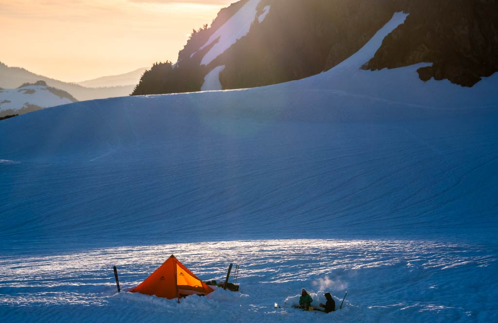 Front Range Tent в снегу