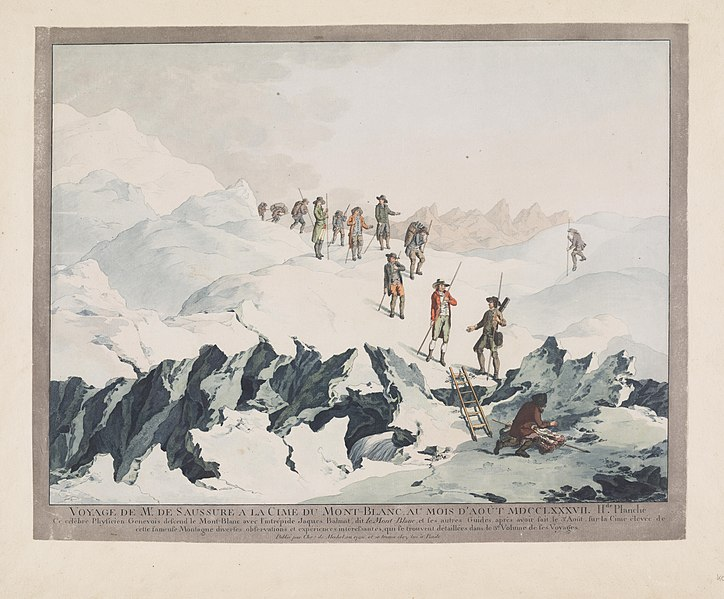 Christian von Mechel, Descent from Mont-Blanc in 1787 by H.B. de Saussure