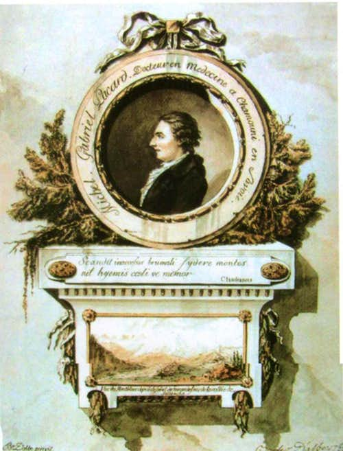 Портрет Мишеля-Габриэля Паккарда в виде медальона, Bacler d'Albe, 1788
