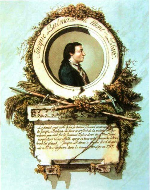 Jacques Balmat, medalion portrait, Bacler d'Albe, 1788