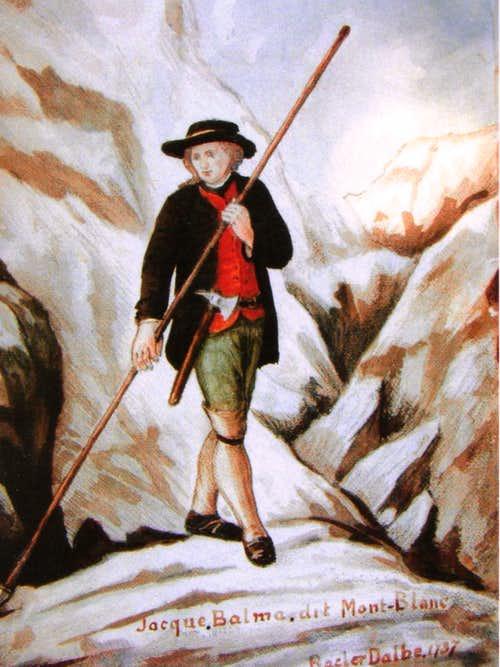 Жак Бальма на Монблане, Bacler d'Albe, 1787