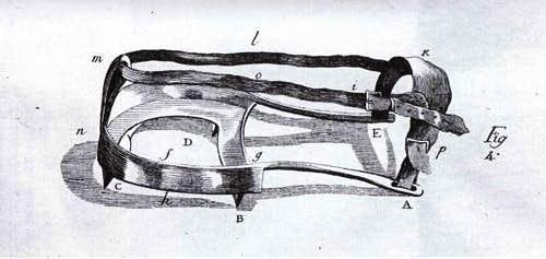 Lacroix, crampons of de Saussure in 'Voyages dans les Alpes' of de Saussure