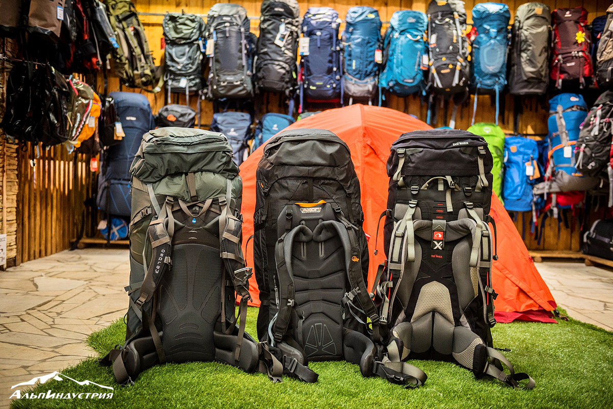 Экспедиционные рюкзаки Osprey, Lowe Alpine, Tatonka