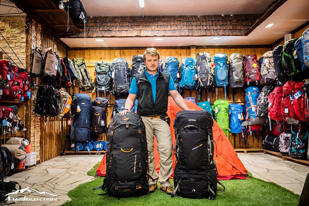 Рюкзаки Lowe Alpine Cerro Torre 100:120 и Osprey Xenit 105