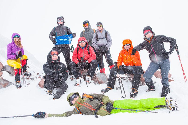 АльпИндустрия на вершине Казбека