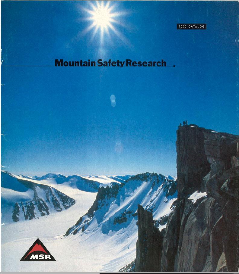 В 2000 в основании гор на логотипе MSR появляется изящная дуга, и визуальный образ становится более динамичным.