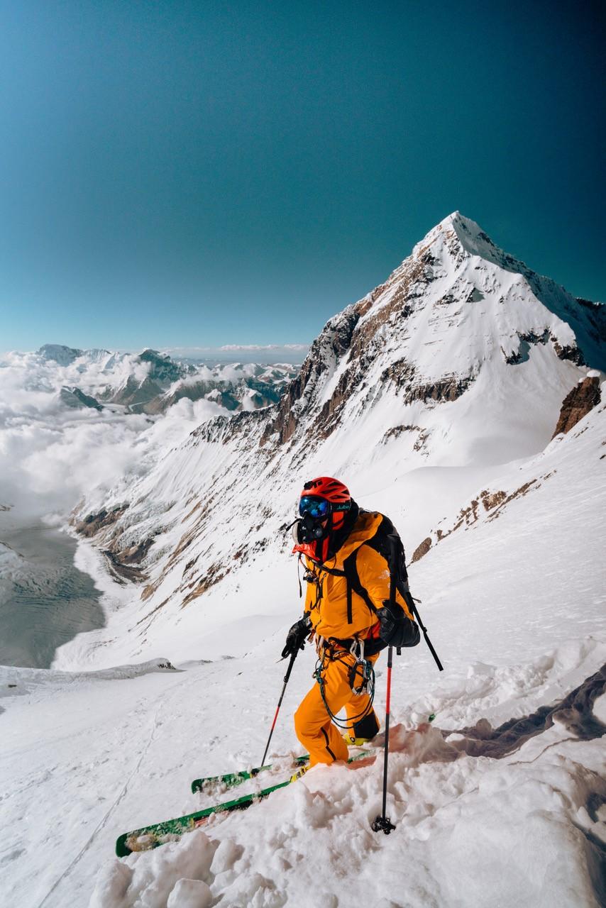 Хилари Нельсон. Первый в мире спуск на лыжах с Лхоцзе