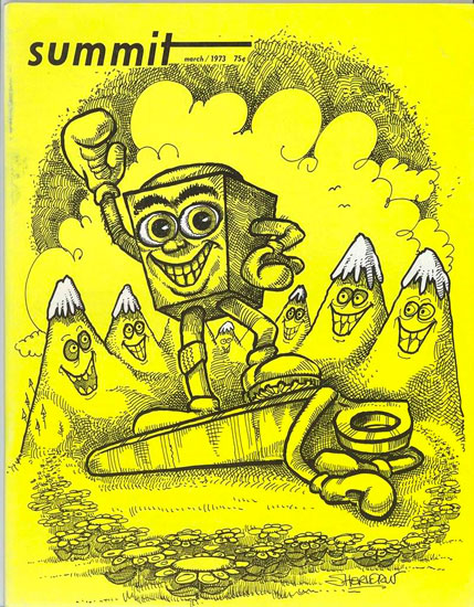 Стоппер на обложке журнала Summit 1973 год