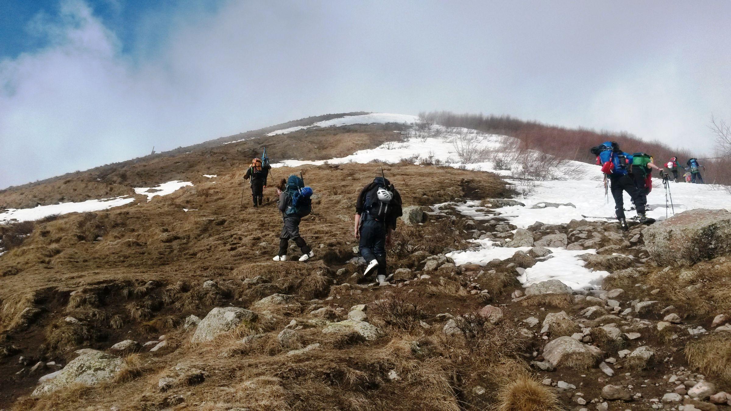 Ски-тур на Казбеке: заброска до снега