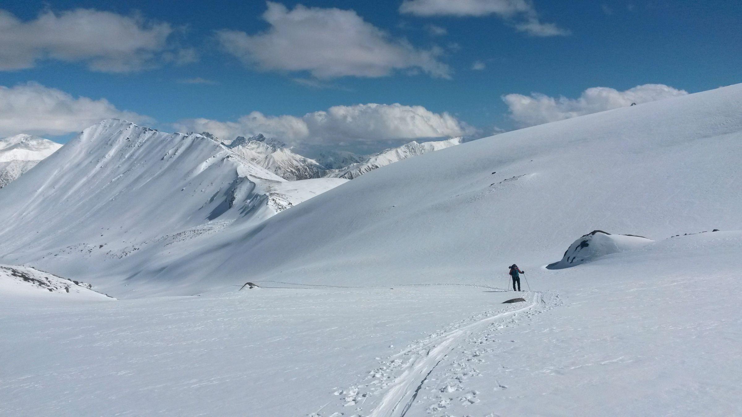 Ски-тур на Казбеке: Сергей Зон-Зам во время восхождения
