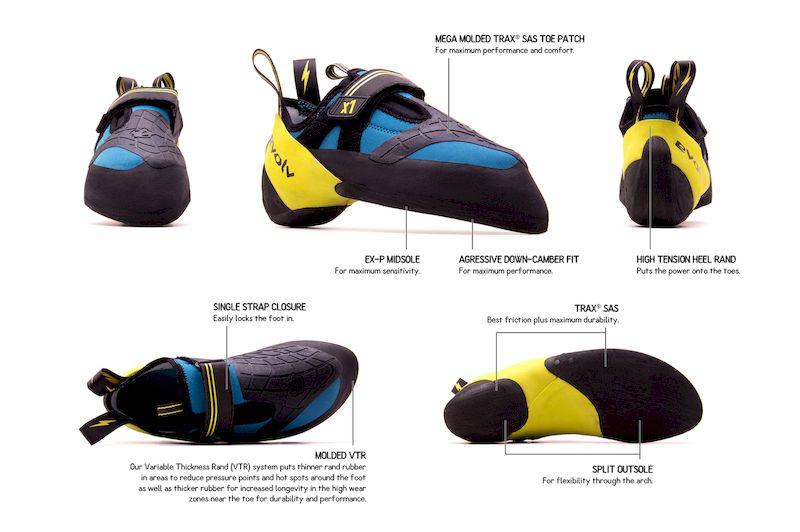 Тест скальных туфель Evolv X1 на скалодромах Москвы от Кати Власовой