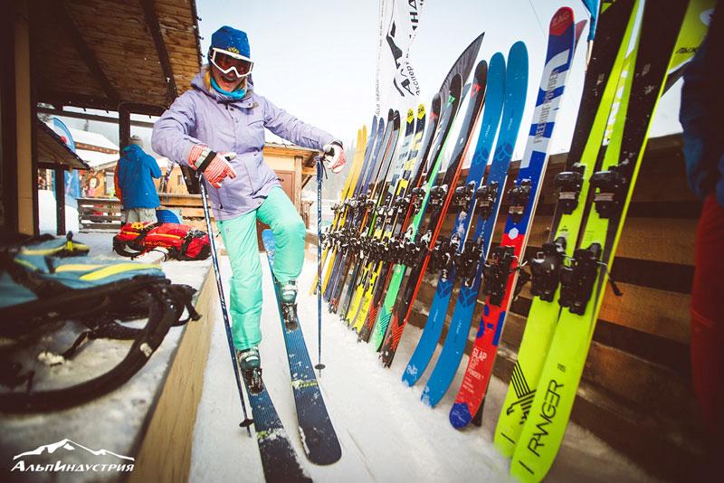 Тесты лыж в Шерегеше от АльпИндустрии