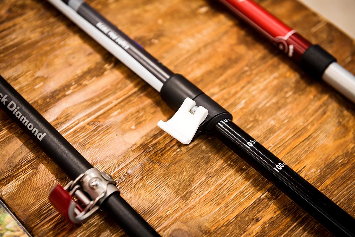 Треккинговые палки с рычажным зажимом