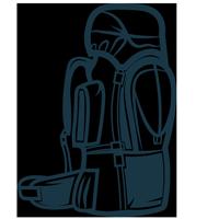 Рюкзаки и гермоснаряжение в магазине альпинистского и туристического снаряжения АльпИндустрия в альплагере Безенги