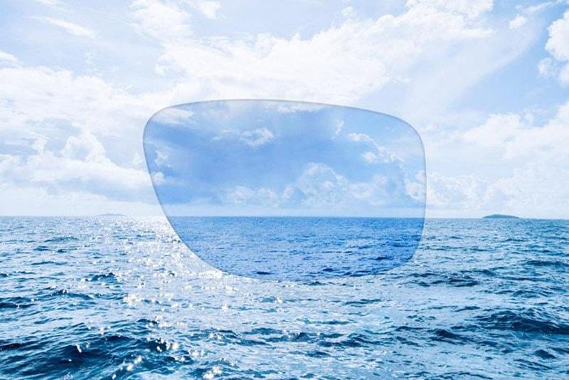 Blue water (Синяя вода): классическая голубая линза для картинки без бликов