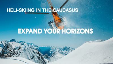 Heli-skiing in the Caucasus