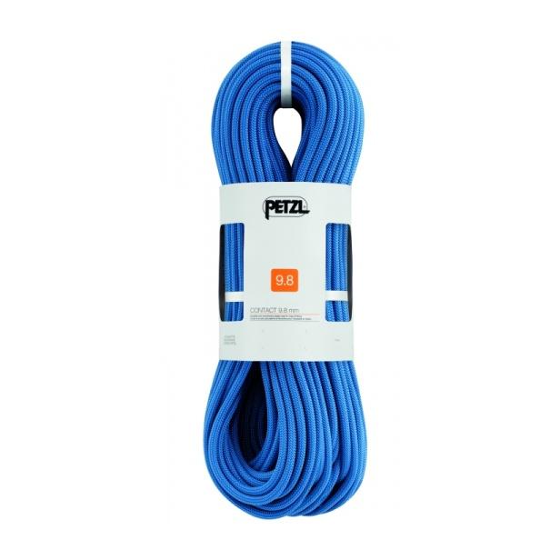 Веревка Petzl Petzl динамическая Contact 9,8 мм (бухта 70 м) синий 70M веревка динамическая beal beal 9 7 мм booster iii standard бухта 70 м