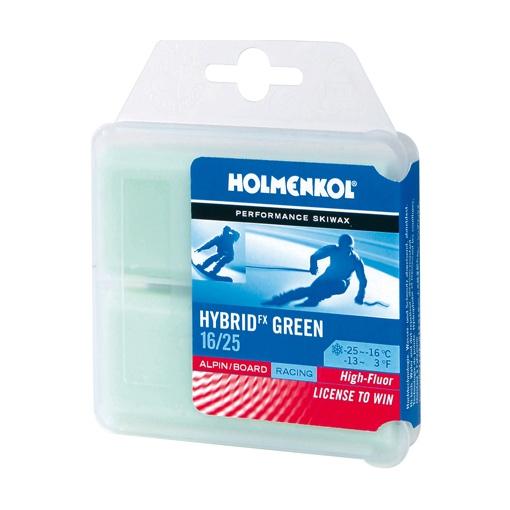 Мазь твердая HOLMENKOL Hybrid 1шт.х150г (-16/-25) зеленый