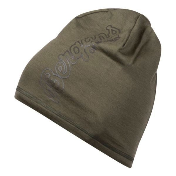 Шапка Bergans Bloom Wool зеленый ONE