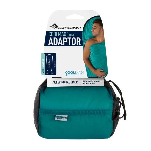 Вкладыш SEATOSUMMIT SeatoSummit Adaptor - Coolmax® Mummy Liner голубой 210СМ