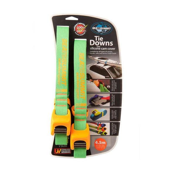 Стропа крепёжная SEATOSUMMIT Tie Down Silicone Cover 4.5 m Double Pack оранжевый 4.5MПАРА