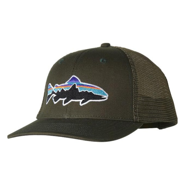 Кепка Patagonia Fitz Roy Trout Trucker Hat зеленый