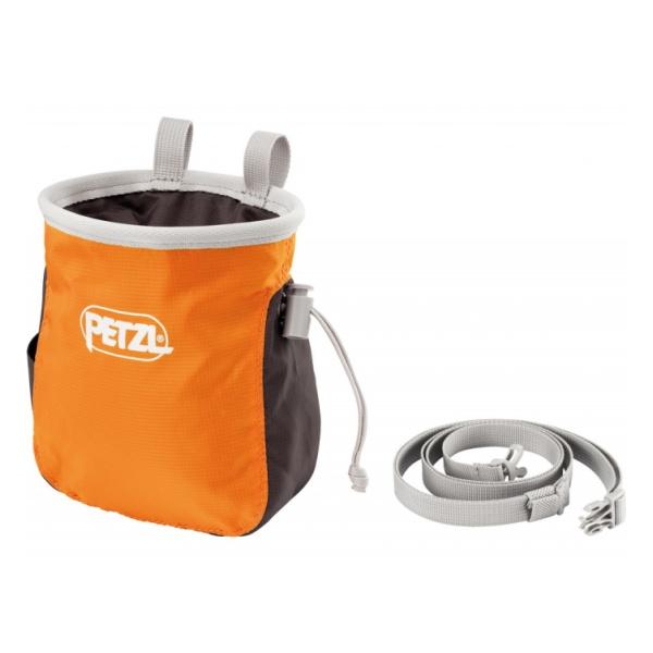 Мешок для магнезии Petzl Saka оранжевый