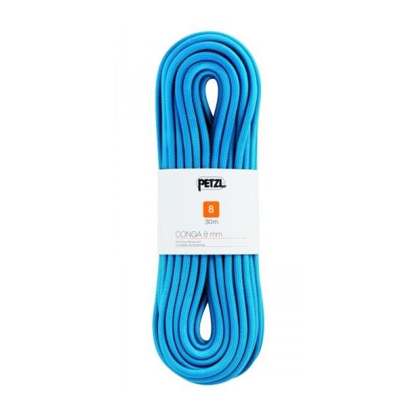 Веревка динамическая Petzl Petzl Conga 8 мм (бухта 30 м) синий веревка динамическая beal beal 9 7 мм booster iii standard бухта 70 м