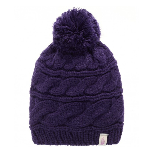 Шапка The North Face The North Face Triple Cable Pom Beanie фиолетовый ONE the north face triple cable pom beanie красный one t0cln6