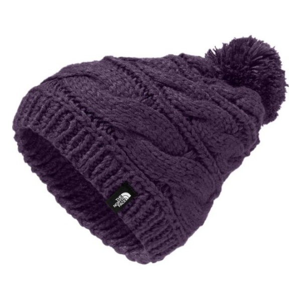 Шапка The North Face The North Face Triple Cable Pom Beanie фиолетовый OS pom pom cable knit beanie hat