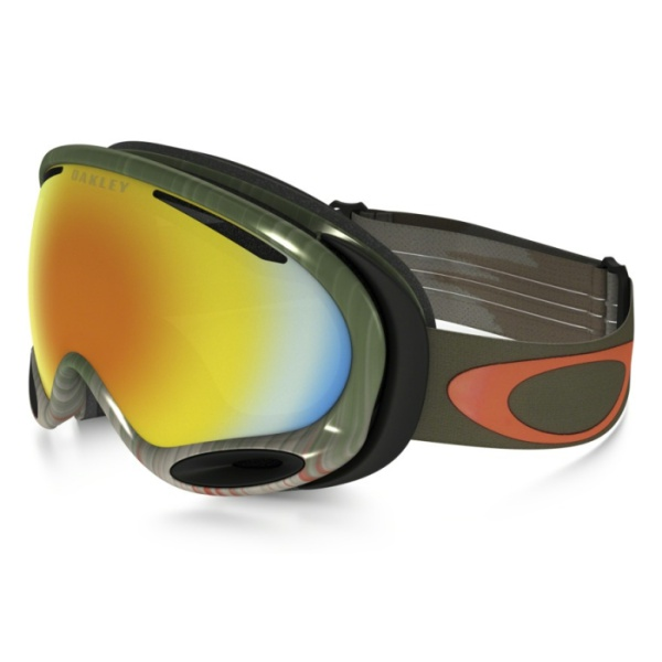 Горнолыжная маска Oakley Oakley A Frame 2.0 темно-зеленый oakley airbrake mx herlings signature series goggles orange frame fire iridium lens