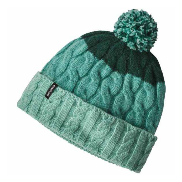 Шапка Patagonia Patagonia Pom Beanie женская светло-зеленый ONE llama and pom poms snow jackets p