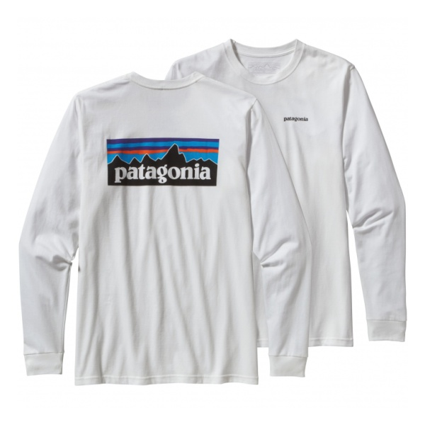 Футболка Patagonia LS P6 Logo Cotton